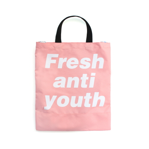 [Fresh anti youth] Logo Tote Bag - Pink