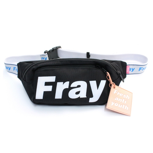 [Fresh anti youth] Logo Waist Bag - Black