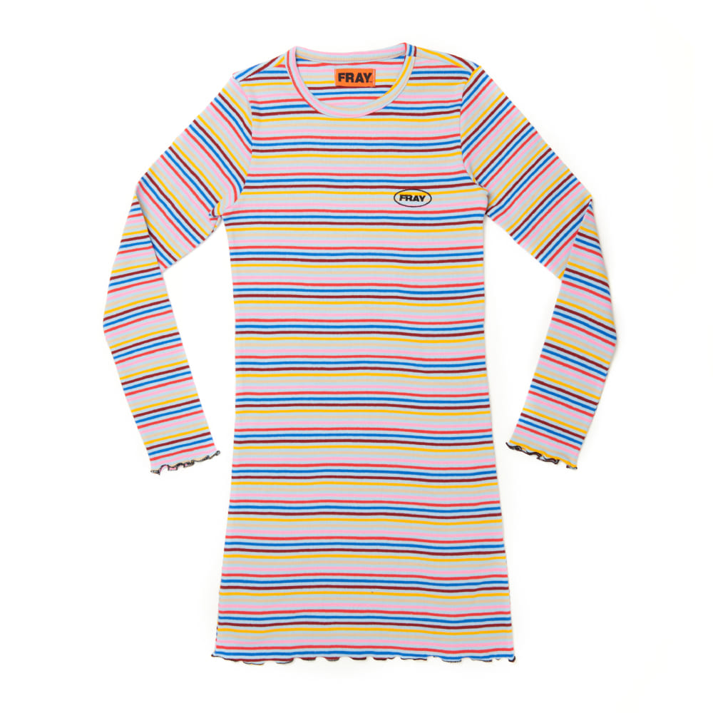 FR STRIPE SLIM DRESS - SKY BLUE STRIPE
