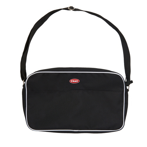 [FRAY] FRAY PIPING SHOULDER BAG - BLACK