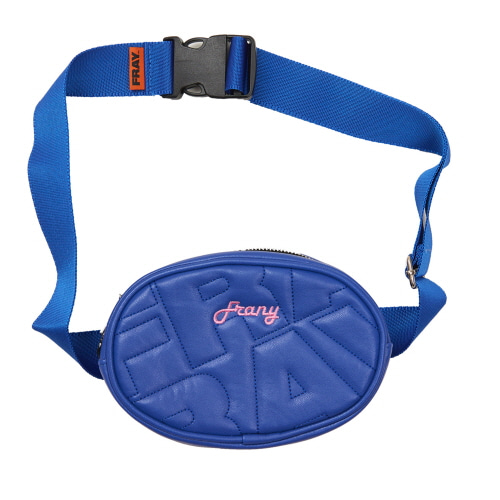 [FRAY] FRAY LEATHER WAIST BAG - BLUE
