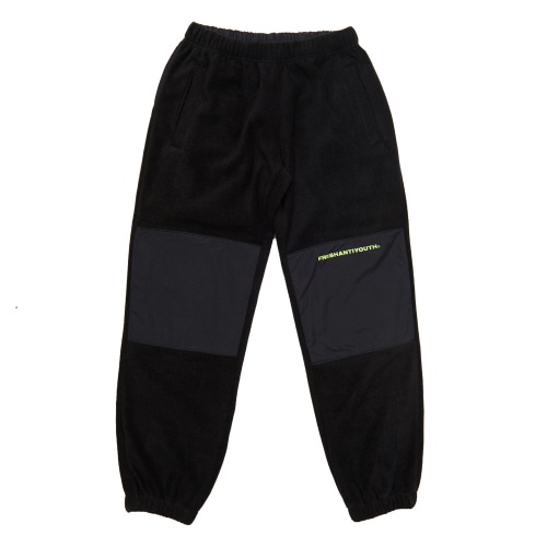 [Fresh anti youth] CUT FLEECE PANTS - BLACK