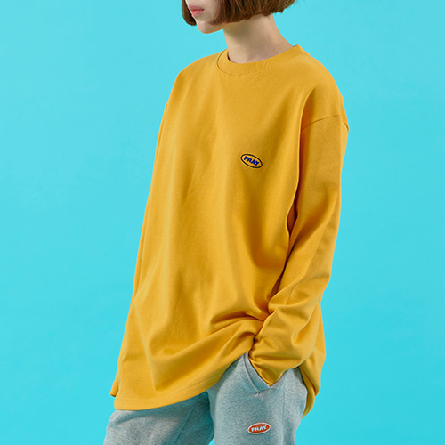 OVAL LOGO LONG SLEEVE - MUSTARD