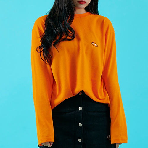 OVAL LOGO LONG SLEEVE - ORANGE