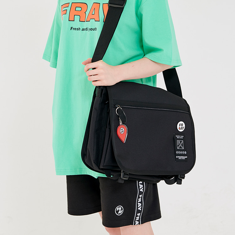 TAPE MESSENGER BAG - BLACK
