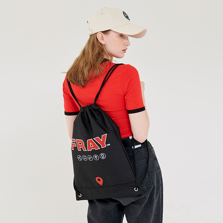FRAY GYM BAG - BLACK