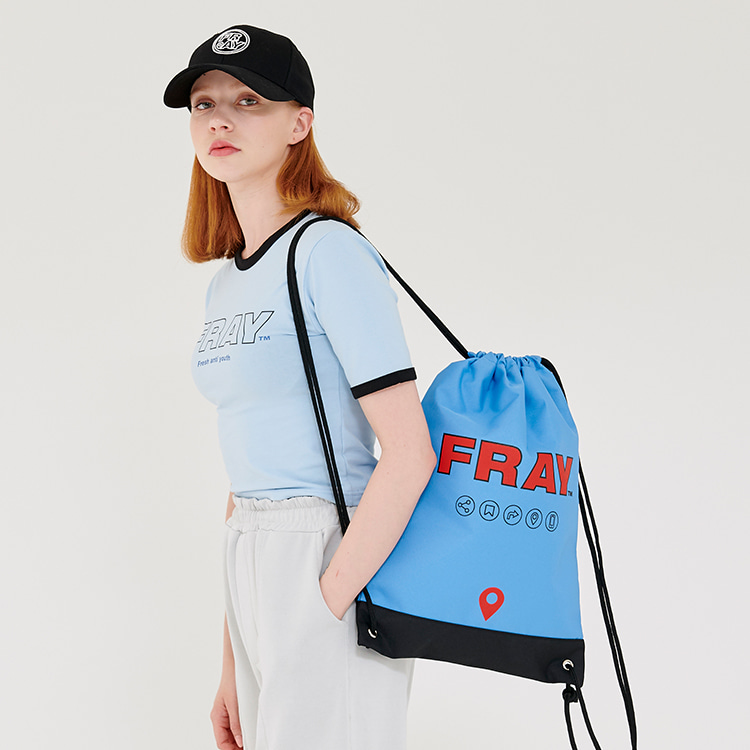 FRAY GYM BAG - DUST BLUE