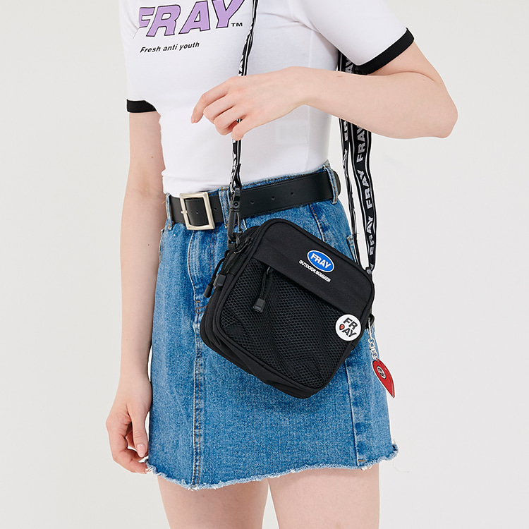 TAPE MINI CROSS BAG - BLACK